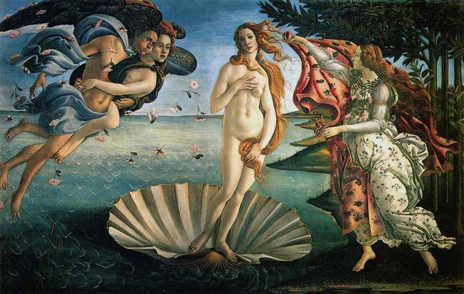 Sandro Botticelli Narodziny Wenus opis obrazu
