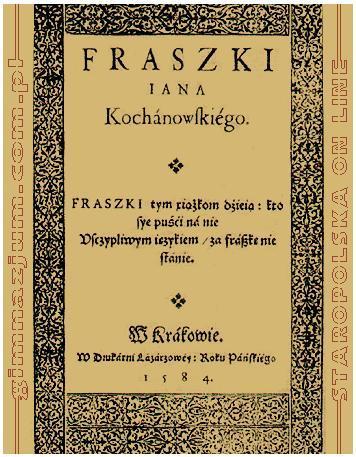Fraszki Opracowanie Tematy Znaczenie Geneza Fraszek
