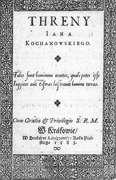 Jan Kochanowski motywy