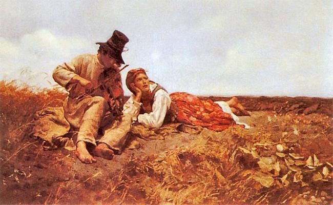 Znalezione obrazy dla zapytania chełmoński obrazy