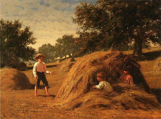 William Bliss Baker, Hiding in the haycocks